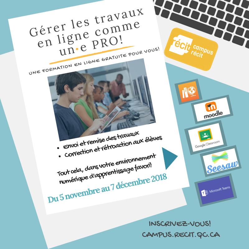 Gérer les travaux en ligne comme un(e) PRO!