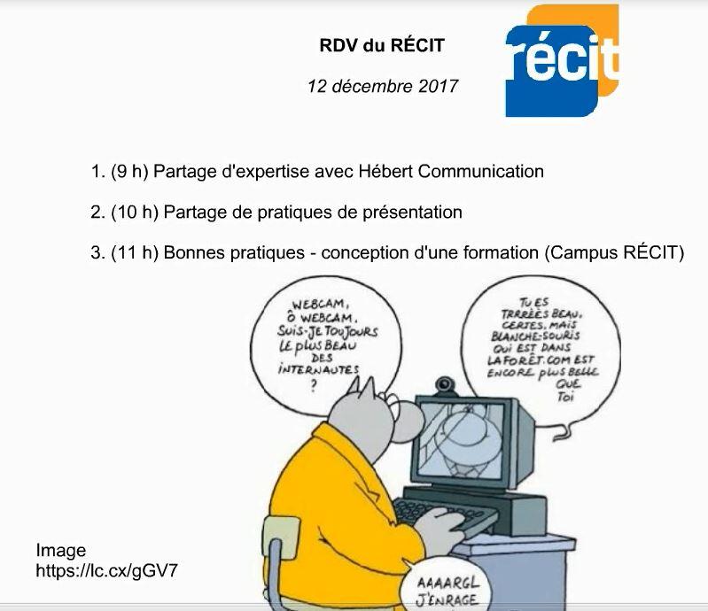 Trois ateliers aux RDV du RÉCIT