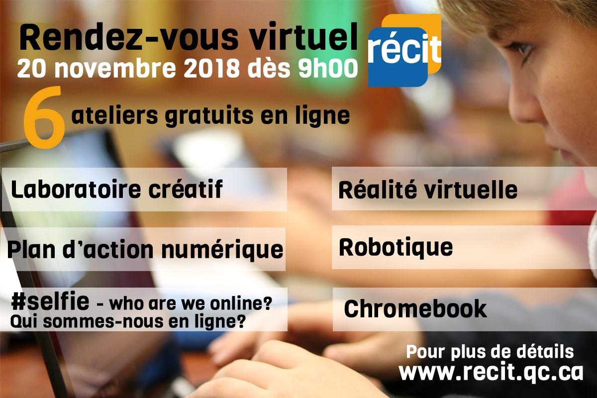 RDV du RÉCIT du 20 novembre! Soyez-y!