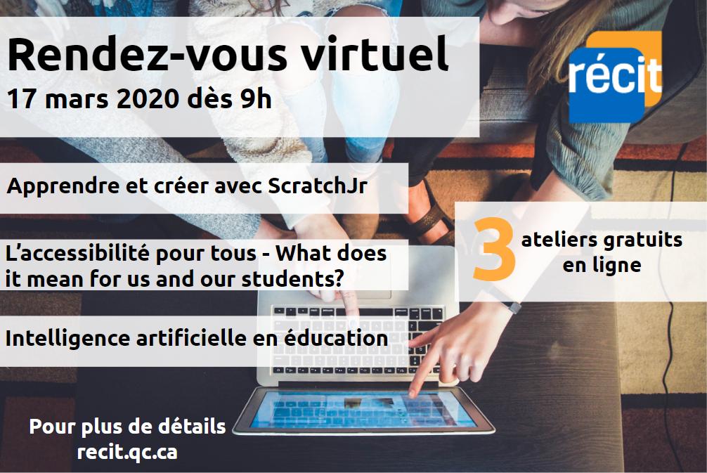 Rendez-vous virtuel du RÉCIT du 17 mars 2020