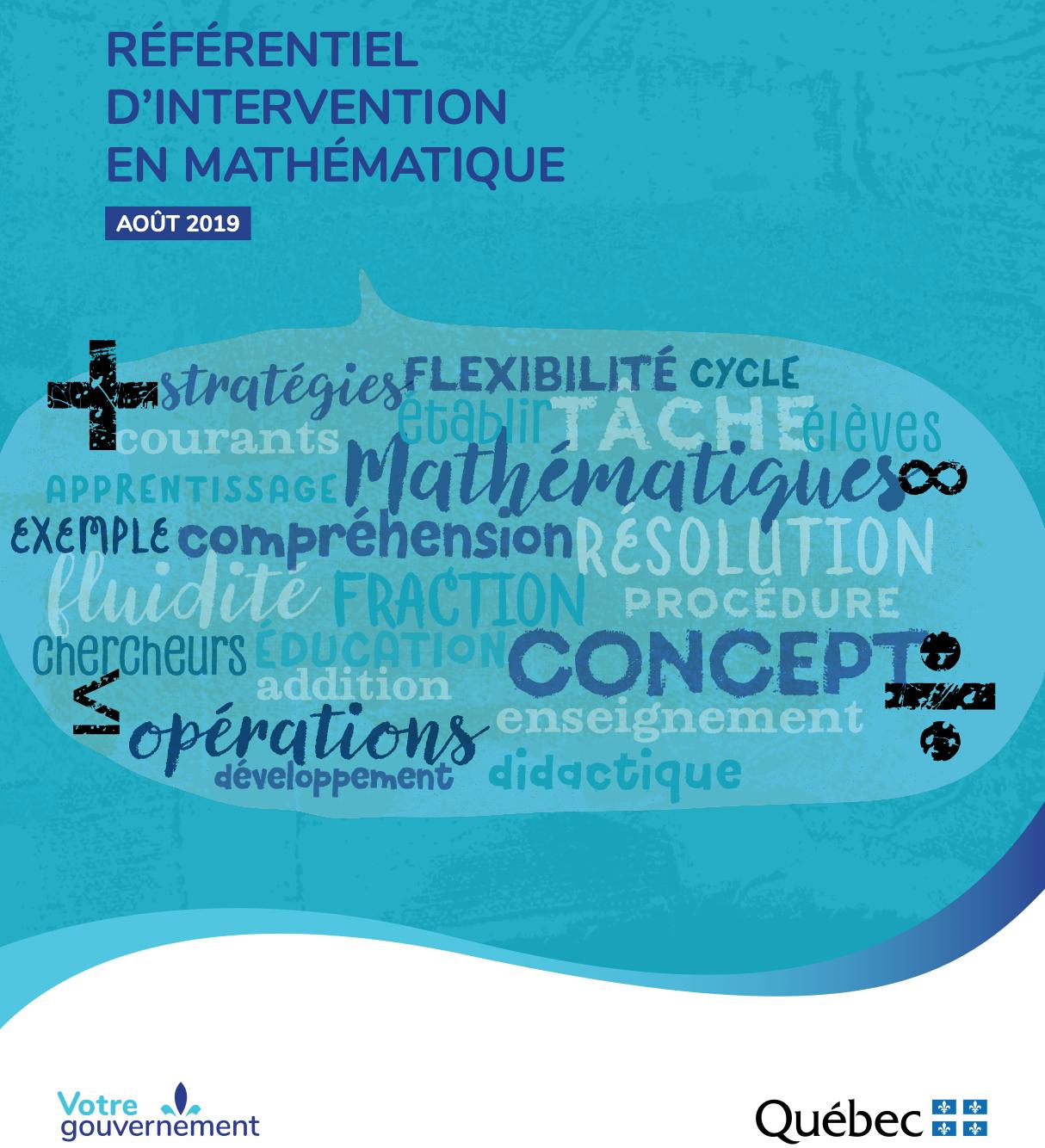 Référentiel d'intervention en mathématique